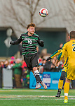 15 November 2015: Binghamton University Bearcat Forward/Midfielder Pascal Trappe, from Berlin, Germany, in action against the University of Vermont Catamounts at Virtue Field in Burlington, Vermont. The Bearcats fell to the Catamounts 1-0 in the America East Championship Game. Mandatory Credit: Ed Wolfstein Photo *** RAW (NEF) Image File Available ***