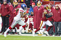 Landover, MD - December 9, 2018: Washington Redskins wide receiver Jamison Crowder (80) catches a pass during the  game between New York Giants and Washington Redskins at FedEx Field in Landover, MD.   (Photo by Elliott Brown/Media Images International)