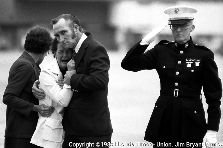 Lance Corporal John Blocker never saw the homecoming his parents and peers gave him when he came back to Jacksonville on Nov. 8, 1983 from Military Duty in Lebanon: He came home in a casket,as one of 241 American marines killed in the terrorist bombing on October 23 of the Marine barracks in Beirut.