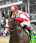 May 4, 2019 : Bricks and Mortar, trained by Chad Brown, wins the Old Forester Turf Classic (G1) at Churchill Downs on May 4, 2019 in Louisville, KY. Jessica Morgan/ESW/CSM