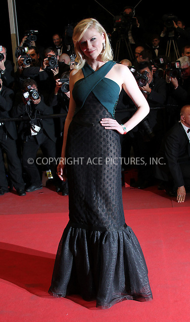WWW.ACEPIXS.COM . . . . .  ..... . . . . US SALES ONLY . . . . .....May 18 2011, Cannes....Kirsten Dunst at the premiere of 'Melancholia' at the Cannes Film Festival on May 18 2011 in Cannes, France....Please byline: FAMOUS-ACE PICTURES... . . . .  ....Ace Pictures, Inc:  ..Tel: (212) 243-8787..e-mail: info@acepixs.com..web: http://www.acepixs.com