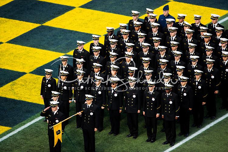 Photography of the U.S. Naval Academy Midshipmen vs. Temple Owls, Saturday afternoon October 13, 2018 at Navy-Marine Corps Memorial Stadium.<br /> <br /> Charlotte Photographer - PatrickSchneiderPhoto.com