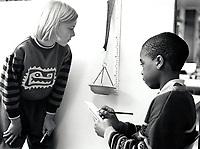 Science class, primary school Nottingham UK 1992