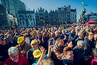 full house for the morning team presentations in the (new) start town of Antwerpen<br /> <br /> 101th Ronde Van Vlaanderen 2017 (1.UWT)<br /> 1day race: Antwerp › Oudenaarde - BEL (260km)
