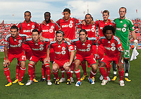 11 September 2010: The starting eleven for Toronto FC during a game between DC United and Toronto FC at BMO Field in Toronto..DC United won 1-0..