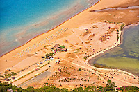 ?ztuzu Beach at the mouth of the Dalyan Çay? River delta. Köyce?iz-Dalyan Special Environmental Protection Area for loggerhead sea turtle nests. Mediterranean coast Turkey