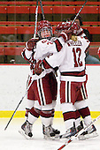 Leanna Coskren (Harvard - 24), Ashley Wheeler (Harvard - 12) - The Harvard University Crimson defeated the St. Lawrence University Saints 8-3 (EN) to win their ECAC Quarterfinals on Saturday, February 26, 2011, at Bright Hockey Center in Cambridge, Massachusetts.