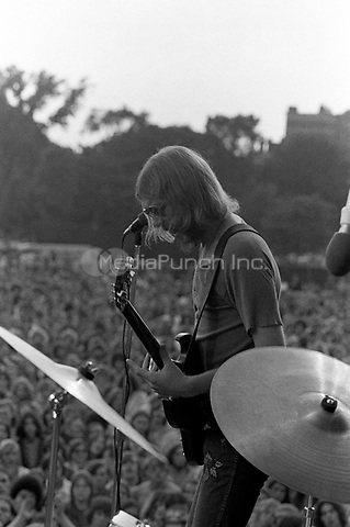 Duane Allman of The Allman Brothers Band performing at the Sunset concert series 'Summerthing' at Boston on the Common in Boston, MA in the summer of 1971. <br /> *** NEVER BEFORE PUBLISHED PHOTOS *** <br /> &copy; Peter Tarnoff / MediaPunch
