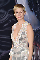 WESTWOOD, CA - OCTOBER 01: Michelle Williams attends the Premiere Of Columbia Pictures' 'Venom' at Regency Village Theatre on October 1, 2018 in Westwood, California.<br /> CAP/ROT/TM<br /> ©TM/ROT/Capital Pictures
