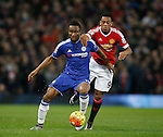Mikel John Obi of Chelsea holds off Anthony Martial of Manchester United - English Premier League - Manchester Utd vs Chelsea - Old Trafford Stadium - Manchester - England - 28th December 2015 - Picture Simon Bellis/Sportimage