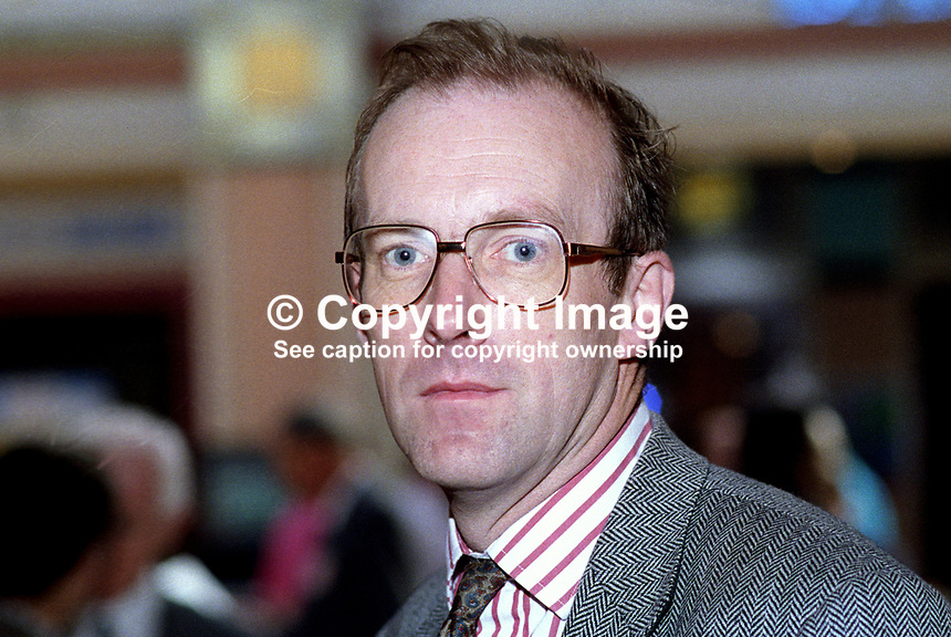 John Home Robertson, MP, Labour Party, UK, taken annual conference, October 1992. 19921011JHR.<br /> <br /> <br /> Copyright Image from Victor Patterson,<br /> 54 Dorchester Park, <br /> Belfast, UK, BT9 6RJ<br /> <br /> t1: +44 28 9066 1296 (from Rep of Ireland 048 9066 1296)<br /> t2: +44 28 9002 2446 (from Rep of Ireland 048 9002 2446)<br /> <br /> m: +44 7802 353836<br /> <br /> e: victorpatterson@me.com<br /> www.victorpatterson.com<br /> <br /> Please see my Terms and Conditions of Use at www.victorpatterson.com. It is IMPORTANT that you familiarise yourself with them.<br /> <br /> Images used on the Internet must be visibly watermarked i.e. &copy; Victor Patterson<br /> within the body of the image and copyright metadata must not be deleted. Images <br /> used on the Internet have a size restriction of 4kbs and will be chargeable at current<br />  NUJ rates unless agreed otherwise.<br /> <br /> This image is only available for the use of the download recipient i.e. television station, newspaper, magazine, book publisher, etc, and must not be passed on to any third <br /> party. It is also downloaded on condition that each and every usage is notified within 7 days to victorpatterson@me.com<br /> <br /> The right of Victor Patterson to be identified as the author is asserted in accordance with The Copyright Designs And Patents Act (1988). All moral rights are asserted.