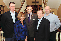 Philip Gavin, Talbot Hotel Wexford, Michelle Ray, Leadership Strategist,  Michael Vaughan, Irish Hotels Federation President, Niall Gibbons, Tourism Ireland and Adrian Webster, Polar Bear Pirates,  at the Irish Hotels Federation Conference 'President's Dine Around' event in The  Malton Hotel , Killarney,  on Monday  night. Picture: MacMonagle, Killarney