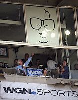 Bob Uecker at Wrigley Field. Photo by Andrew Woolley / Four Seam Images.