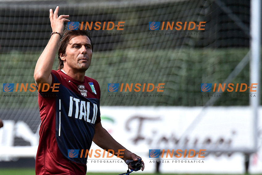 Antonio Conte <br /> Coverciano ( Firenze ) 01-09-2014 Centro Tecnico Federale. Allenamento Nazionale italiana. Training Italy Foto Andrea Staccioli / Insidefoto
