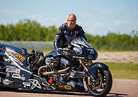 Apr 23, 2017; Baytown, TX, USA; NHRA top fuel nitro Harley Davidson rider Bob Malloy during the Springnationals at Royal Purple Raceway. Mandatory Credit: Mark J. Rebilas-USA TODAY Sports