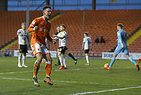 Blackpool's Jordan Thompson celebrates scoring his side's second goal <br /> <br /> Photographer Stephen White/CameraSport<br /> <br /> The EFL Sky Bet League One - Blackpool v Burton Albion - Saturday 24th November 2018 - Bloomfield Road - Blackpool<br /> <br /> World Copyright © 2018 CameraSport. All rights reserved. 43 Linden Ave. Countesthorpe. Leicester. England. LE8 5PG - Tel: +44 (0) 116 277 4147 - admin@camerasport.com - www.camerasport.com