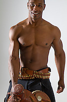 Western black cowboy romance novel cover photograph by Jenn LeBlanc and Studio Smexy