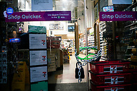 NEW YORK, NY - April 13:  A local store  remains shuttered due to COVID-19 pandemic on April 13, 2020. in New York, United States. The global economy is facing the worst collapse since the WWII, while COVID-19  pandemic has now killed more than 22,000 people in the United States and at least 1,864,629 people died world wide. (Photo by Eduardo MunozAlvarez/VIEWpress)