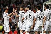 Players Real Madrid celebrating goal of Benzema