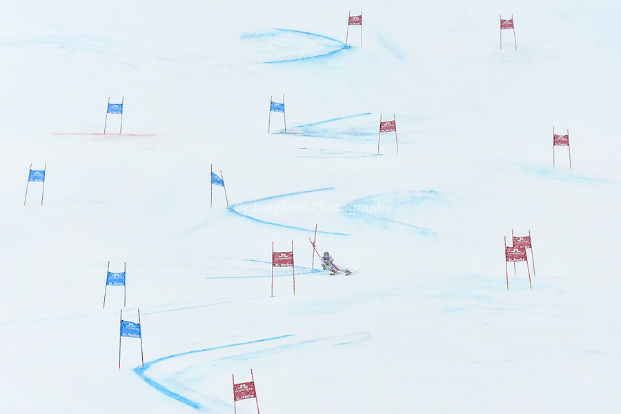 February 17, 2017: Marcel HIRSCHER (AUT) on course with the winning second run in the men's giant slalom event at the FIS Alpine World Ski Championships at St Moritz, Switzerland. Photo Sydney Low