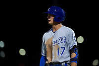 AZL Royals Bobby Witt, Jr. (17) during his professional debut in an Arizona League game against the AZL Cubs 1 on June 30, 2019 at Sloan Park in Mesa, Arizona. AZL Royals defeated the AZL Cubs 1 9-5. (Zachary Lucy / Four Seam Images)