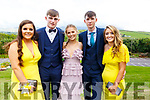 Nora O'Connell, Dermot O'Connor, Muireann Moriarty, Brian McKenna and Kate O'Connor attending the Presentation Tralee Debs in the Ballyroe Hotel on Tuesday.