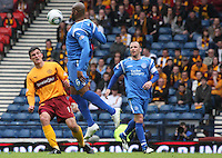 Michael Duberry chests the ball away to safety from John Sutton
