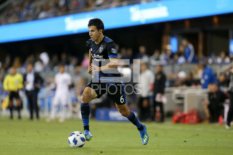 San Jose, CA - Saturday July 28, 2018: Shea Salinas during a Major League Soccer (MLS) match between the San Jose Earthquakes and Real Salt Lake at Avaya Stadium.