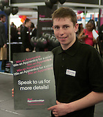 "Advertising the ""Win an apprentice for a year"" promotion, Kent2020Vision show, County Showground, Kent."