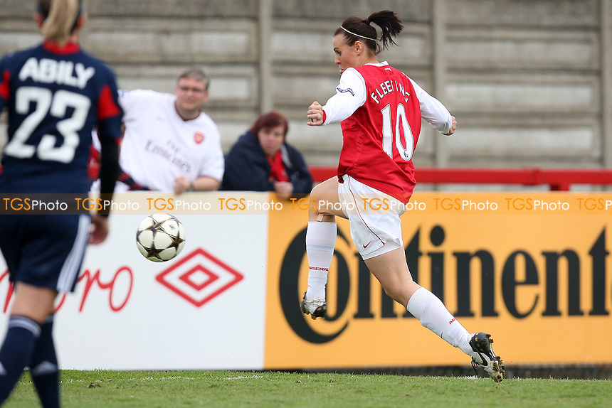 Julie Fleeting scores the first goal for Arsenal - Arsenal Ladies vs Olympique Lyonnais - UEFA Women's Champions League Semi-Final 2nd Leg at Boreham Wood FC - 16/04/11 - MANDATORY CREDIT: Gavin Ellis/TGSPHOTO - Self billing applies where appropriate - Tel: 0845 094 6026
