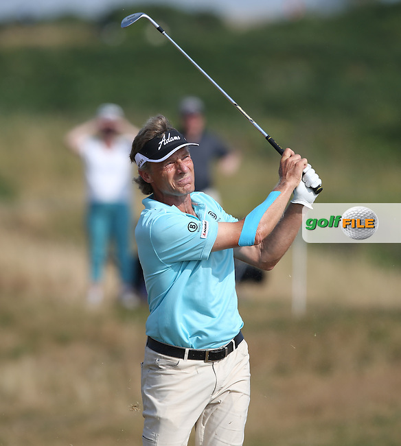 Bernhard Langer (GER) in total control again during Round Three of the 2014 Senior Open Championship presented by Rolex from Royal Porthcawl Golf Club, Porthcawl, Wales. Picture:  David Lloyd / www.golffile.ie