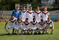 Canada lines up during the group stage of the CONCACAF Men's Under 17 Championship at Jarrett Park in Montego Bay, Jamaica. Canada defeated Barbados, 8-0.