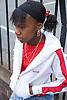 Teenage girl hanging around in the street,