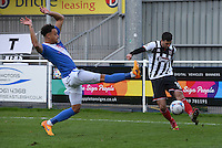 Andy Monkhouse of Grimsby Town crosses the ball during the Vanarama National League match between Eastleigh and Grimsby Town at The Silverlake Stadium, Eastleigh, Hampshire on Nov 21, 2015. (Photo: Paul Paxford/PRiME)