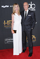 05 November  2017 - Beverly Hills, California - Holly Hunter, Jeffrey Katzenberg. The 21st Annual &quot;Hollywood Film Awards&quot; held at The Beverly Hilton Hotel in Beverly Hills. <br /> CAP/ADM/BT<br /> &copy;BT/ADM/Capital Pictures