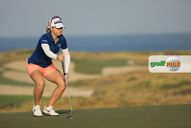 Jody Ewart Shadoff (ENG) during the first round of the Fatima Bint Mubarak Ladies Open played at Saadiyat Beach Golf Club, Abu Dhabi, UAE. 10/01/2019<br /> Picture: Golffile | Phil Inglis<br /> <br /> All photo usage must carry mandatory copyright credit (© Golffile | Phil Inglis)