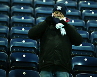 Preston North End fan wraps up for the cold<br /> <br /> Photographer Stephen White/CameraSport<br /> <br /> The EFL Sky Bet Championship - Preston North End v Middlesbrough - Tuesday 27th November 2018 - Deepdale Stadium - Preston<br /> <br /> World Copyright © 2018 CameraSport. All rights reserved. 43 Linden Ave. Countesthorpe. Leicester. England. LE8 5PG - Tel: +44 (0) 116 277 4147 - admin@camerasport.com - www.camerasport.com