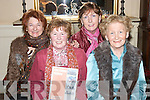 GLAMOUR: At the Pre Cheltenham Race night in the Listowel Arms Hotel on Monday 5th March were, l-r: Nora Relihan, Liz OReilly, Sally ONeill and Maureen Grace..