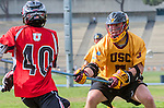 Los Angeles, CA 02/15/14 - Jack Medall (USC #5) in action during the Utah versus USC game as part of the 2014 Pac-12 Shootout at UCLA.  Utah defeated USC 10-9.