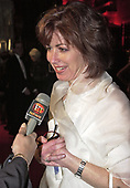 Dana Delaney is interviewed as she arrives for a party following the annual White House Correspondents Association Dinner in Washington, D.C. on April 28, 2001.<br /> Credit: Ron Sachs / CNP