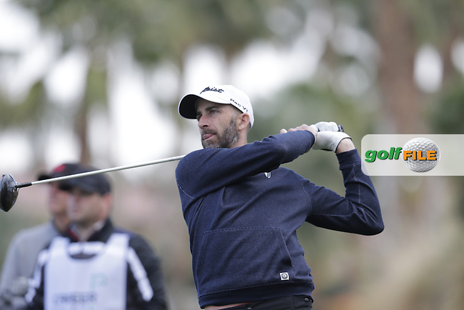 Geoff Ogilvy (AUS) tees off the 18th tee during Thursday's Round 1 of the 2017 CareerBuilder Challenge held at PGA West, La Quinta, Palm Springs, California, USA.<br /> 19th January 2017.<br /> Picture: Eoin Clarke   Golffile<br /> <br /> <br /> All photos usage must carry mandatory copyright credit (&copy; Golffile   Eoin Clarke)