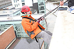 Margaret Rafferty who abseiled off the roof of the D Hotel to raise money for Drogheda Animal Rescue...Picture Jenny Matthews/Newsfile.ie