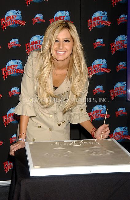 WWW.ACEPIXS.COM . . . . . ....February 7, 2007, New York City. ....Ashley Tisdale attends Handprint Ceremony at Planet Hollywood. ....Please byline: KRISTIN CALLAHAN - ACEPIXS.COM.. . . . . . ..Ace Pictures, Inc:  ..(212) 243-8787 or (646) 769 0430..e-mail: info@acepixs.com..web: http://www.acepixs.com