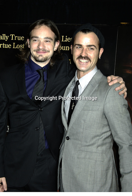 """Charlie Cox and Justin Theroux ..at a Special Screening of """" Casanova"""" on December 11, 2005 at The Loews Lincoln Square Theatre. ..Photo by Robin Platzer, Twin Images"""