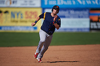 State College Spikes designated hitter R.J. Dennard (32) running the bases during a game against the Batavia Muckdogs August 23, 2015 at Dwyer Stadium in Batavia, New York.  State College defeated Batavia 8-2.  (Mike Janes/Four Seam Images)