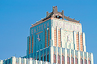 Los Angeles: Eastern Columbia Building, 849 S. Broadway, L. A.--close-up of tower. Claude Beelman 1929. Photo '89.