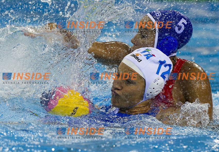 Shanghai , China (CHN) 16-31 July 2001.XIV FINA Swimming World Championships.day 02.Women's Water Polo.Italia Vs Cuba...Photo Insidefoto / Giorgio Scala
