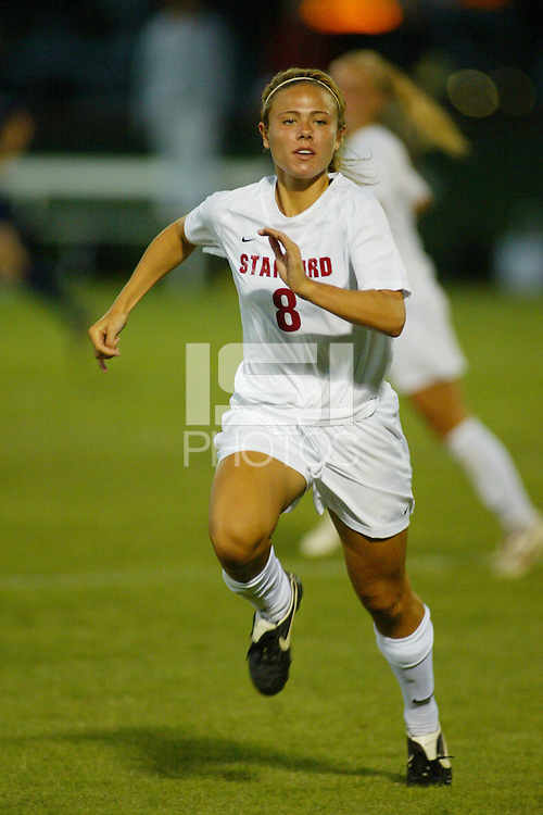 22 August 2005: Kate Mannino during a scrimmage against UC Davis at Maloney Field in Stanford, CA.