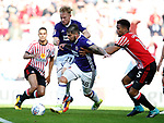 Kieron Freeman of Sheffield Utd and Mark Duffy of Sheffield Utd combine to win the ball back during the Championship match at the Stadium of Light, Sunderland. Picture date 9th September 2017. Picture credit should read: Simon Bellis/Sportimage