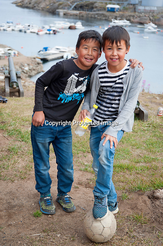 Young Boys Tasiilaq Greenland